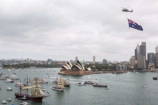 Sydney Harbour on Australia Day