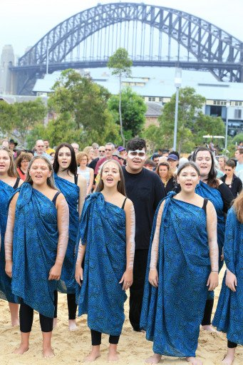 Kari Choir at the Wugulora Idigenous Morning Ceremony at Barangaroo