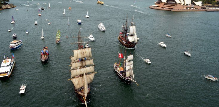 Tall Ships in Sydney Harbour