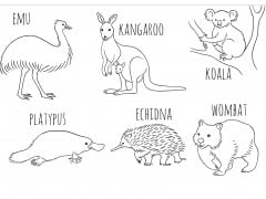 Thumbnail image of Six Australian animals