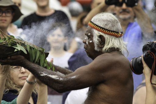 Smoking ceremony at Yabun 2017