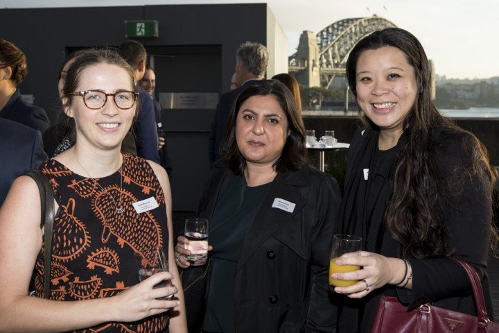 090518 00aMembers and guests at Corporate Club Australia Networking Breakfast held at the Museum of Contemporary Art Australia with Quantum Physics Professor Michelle Simmons (2018 Australian of the Year), Maths Teacher Eddie Woo (2018 Australia's Local H