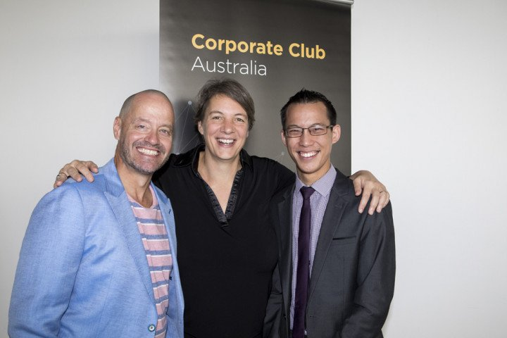 Members and guests at Corporate Club Australia Networking Breakfast held at the Museum of Contemporary Art Australia with Quantum Physics Professor Michelle Simmons (2018 Australian of the Year), Maths Teacher Eddie Woo (2018 Australia's Local Hero) and s