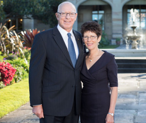 His Excellency General The Honourable David Hurley AC DSC Retd Governor of NSW and Mrs Linda Hurley